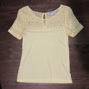 Forever 21 Light Yellow Top